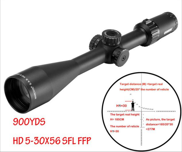 S.A.R. HD 5-30X56 SFL FFP Hunting Tactical SKS Rifle Scope With 30MM Bubble Level Ring Mount Airgun Rifle For Pistola Weapon