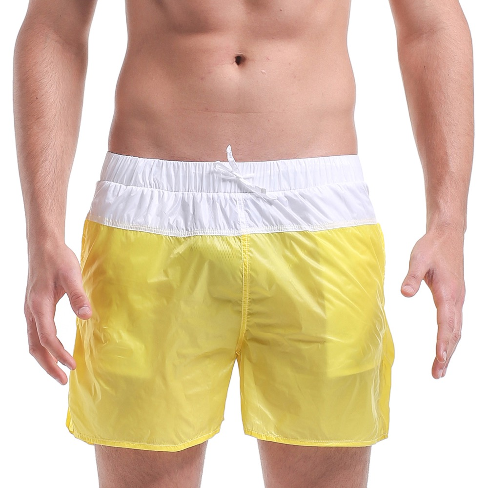 Men's Patchwork   Short   Super Thin Transparency   Board     shorts   Beachwear Holiday Sports Surfing & Beach