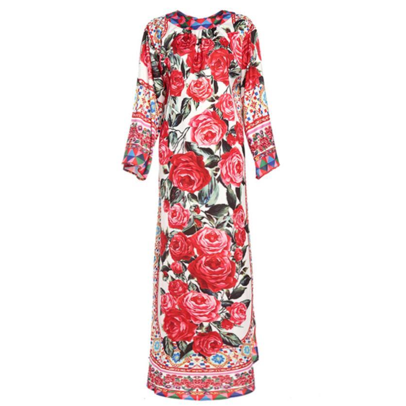 2017 printemps nouveauté mode femmes pleine impression robe personnalisée double placketing tenue décontractée élégante une-pièce robe