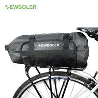 NEWBOLER Waterproof Bicycle Carrier Bag Rack Trunk 10L Bike Luggage Back Seat Pannier Outdoor Cycling Storage