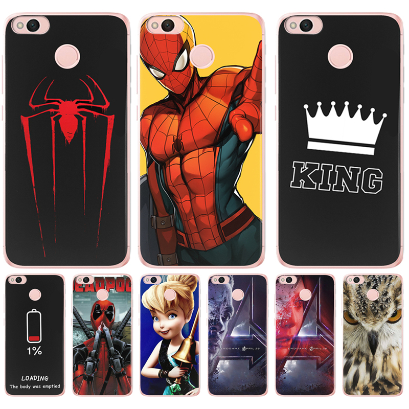 Avengers Deadpool For <font><b>Xiaomi</b></font> Redmi <font><b>Mi</b></font> 3S Pro 4X 4A 5A 5 Plus Note 3 4 6 Pro 6A A1 5X A2 6X <font><b>Lite</b></font> <font><b>8</b></font> Pocophone F1 Case Cover king image