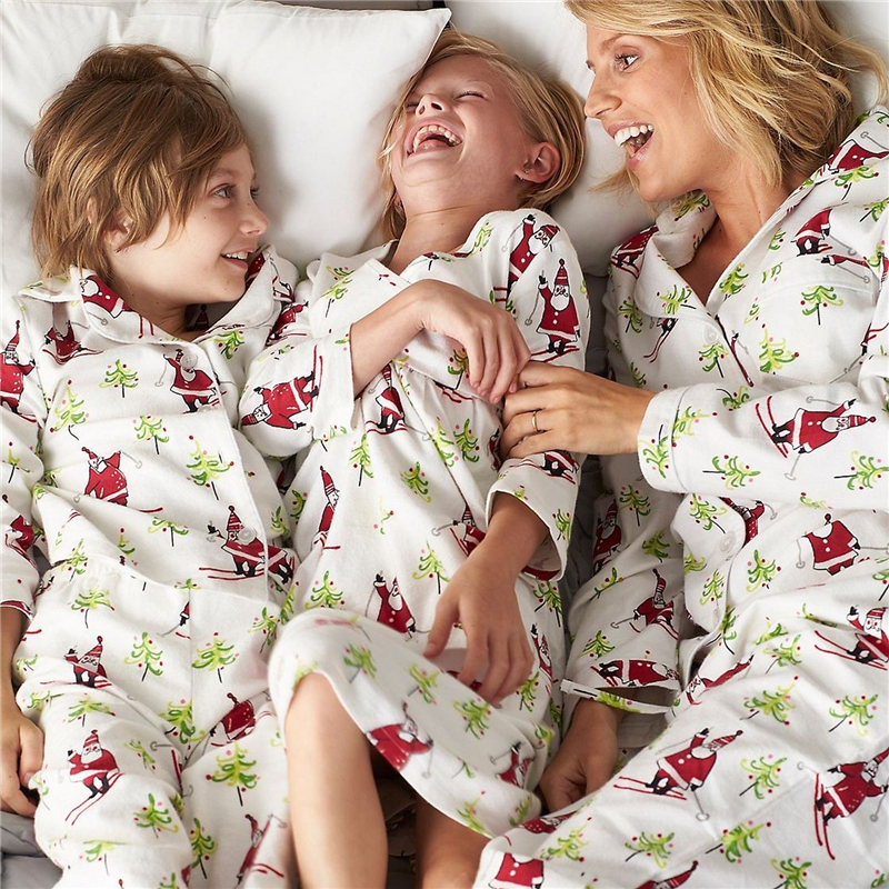Christmas Family Matching Pyjamas Set Xmas Hot Mum Dad Kid Sleepwear  Nightwear Fall Family Match Pajamas Set 9e7ea3f96