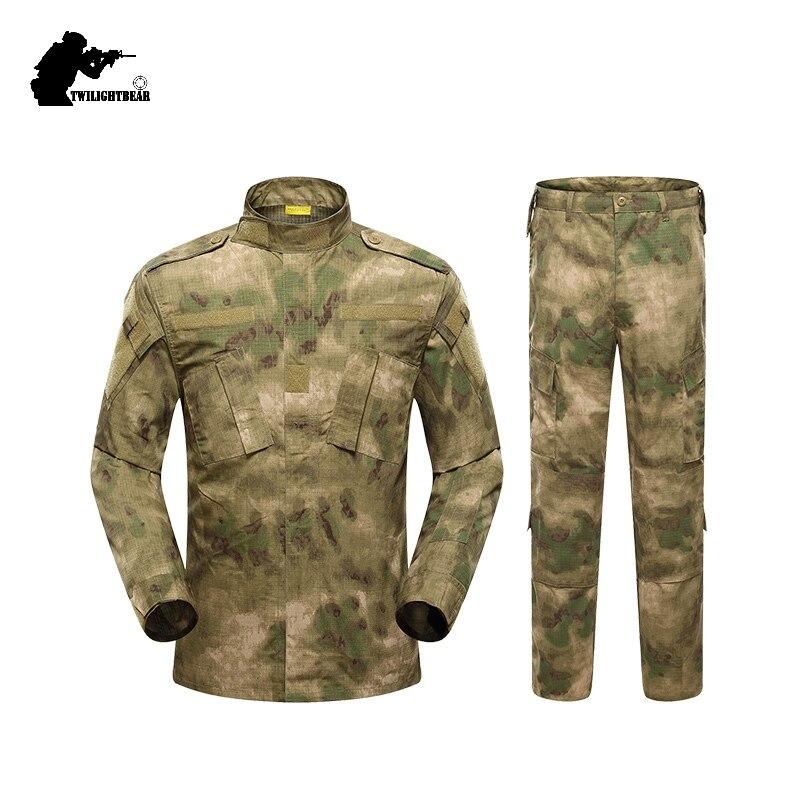 Uniforme militaire Camouflage costume tactique de haute qualité Camouflage armée Comber vêtements ensembles chasse pêche Paintball AB9E1