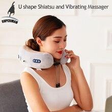 Masażer szyi masaż odcinka szyjnego poduszka shiatsu podgrzewana maszyna do terapii wałek elektryczny najlepsze urządzenie do ugniatania 3d sprzęt wibracyjny