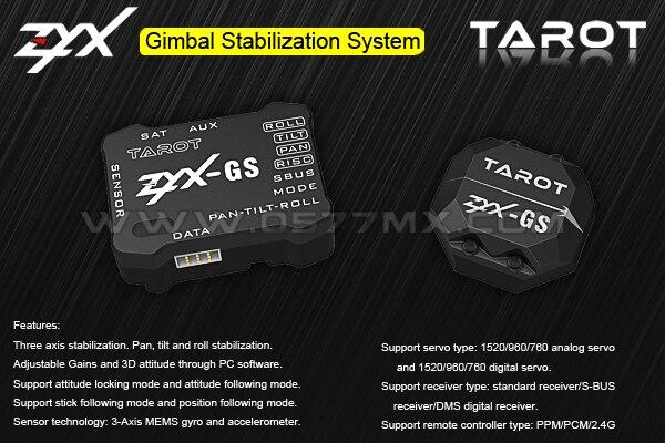 Oyuncaklar ve Hobi Ürünleri'ten Parçalar ve Aksesuarlar'de Tarot ZYX GS üç eksenli gimbal gyro zyx13'da  Grup 1