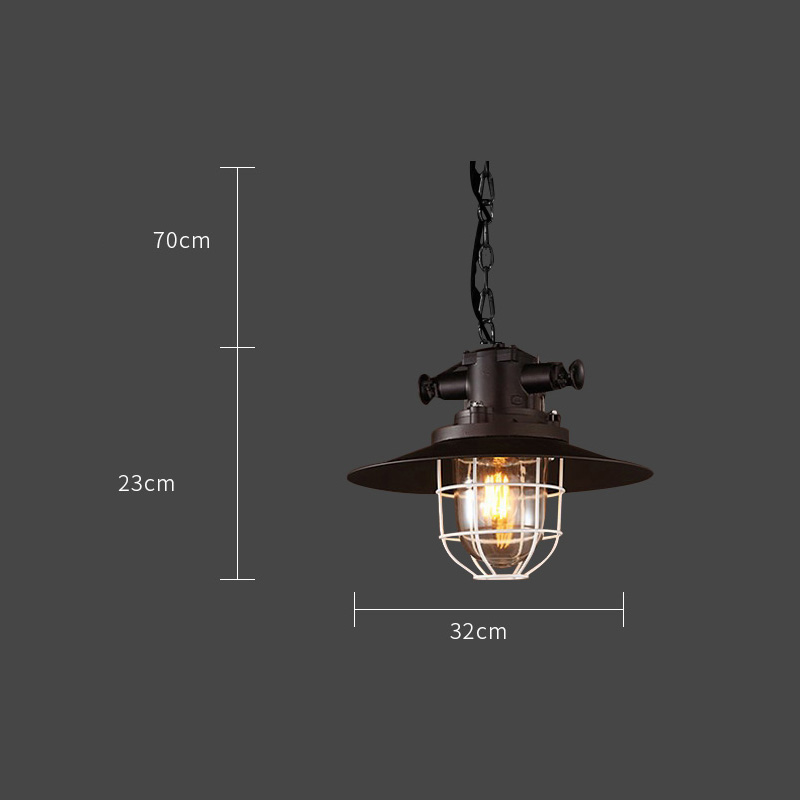 Industrial wind Loft restaurant cafe bar American rural Nordicwrought iron single head pot droplightIndustrial wind Loft restaurant cafe bar American rural Nordicwrought iron single head pot droplight