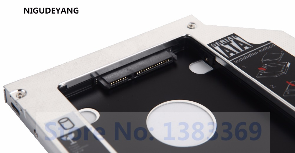 NIGUDEYANG 2nd SATA Hard Drive HDD SSD Caddy Adapter for <font><b>Acer</b></font> 4810tg <font><b>4820tg</b></font> 4830tg 5830tg image