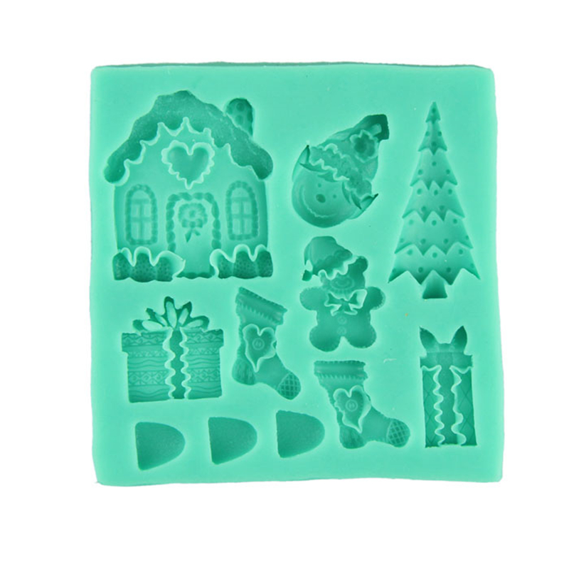 3D christmas gift silicone fondant cake molds soap chocolate Mould high quality on hot selling new fashional home stylish