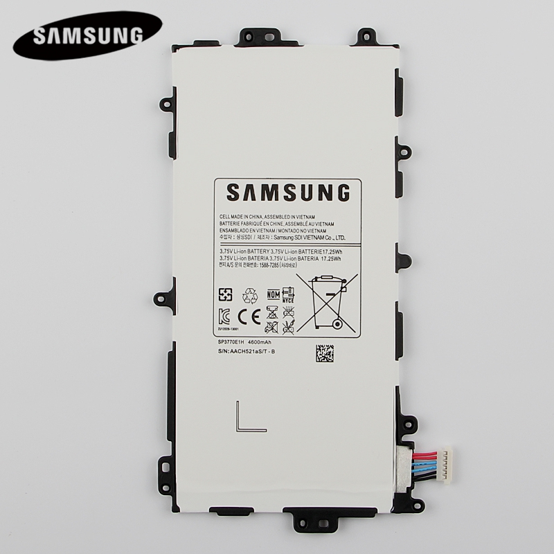 100% Tablet Originale SP3770E1H Batteria Per Samsung N5100 N5120 Galaxy Note N5110 8.0 Genuino Batterie di Ricambio 4600 mAh