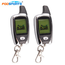 Fodsports Motorcycle Alarm System Motorbike Long Range Distance remote engine star 2 Way LCD Alarm Theft Protection