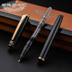 Image 4 - Hero stylo fontaine ultra fin 1079mm authentique, 0.38mm, boîte cadeau pour étudiants et affaires, noir, rose, jaune, bleu, livraison gratuite