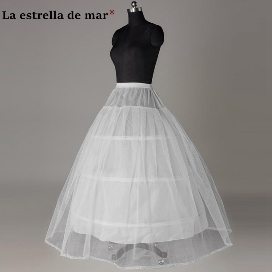Petticoats Jupon Mariage 2019 New Elastic Waist White Tulle 4hoops Petticoats Wholesale Enaguas Para El Vestido De Boda Cheap Wide Selection;