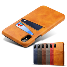 ZKFYS Retro PU Leather Wallet Phone Cases For iPhone X XR Xs Max Case Shockproof Back Cover 6 6S 7 8 Plus