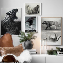 Surrealism Magic Fantasy Tiger Wall Art Canvas Painting Nordic Posters And Print Animal Wall Pictures For Living Room Home Decor surrealism