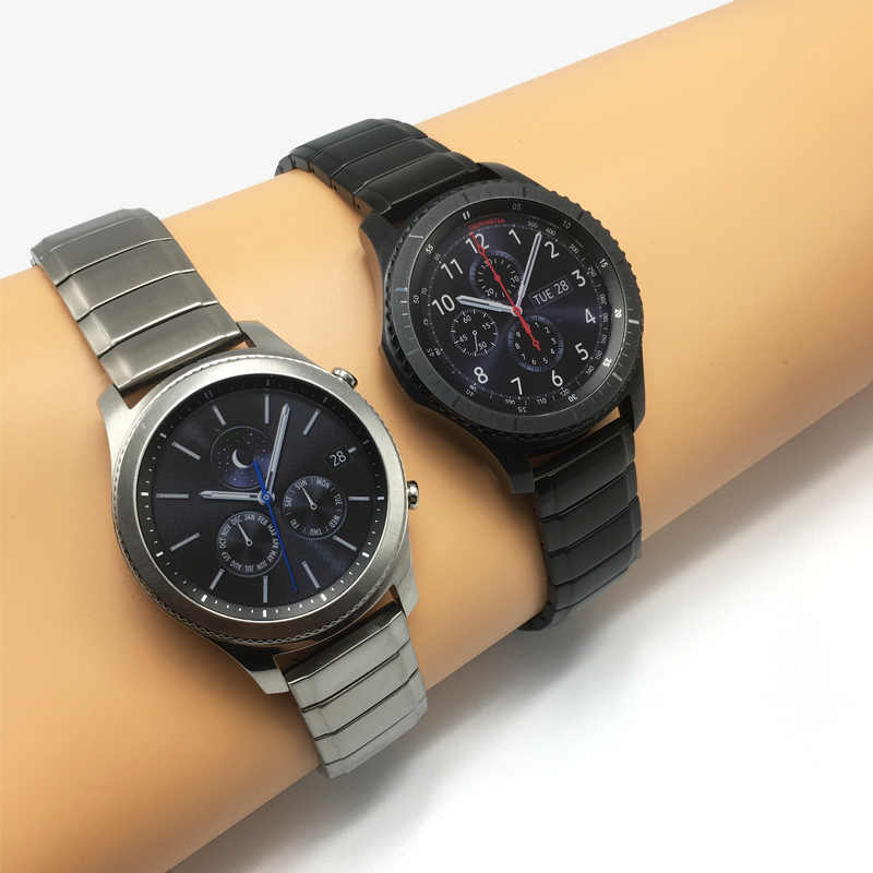 Metal Stainless Steel Watch Wrist Band Strap for Samsung Gear S3 Classic  Frontier huawei watch 2 Pro Watch Straps Quick install