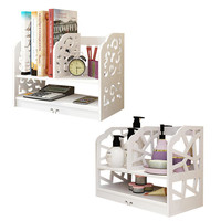 White Household DecorBook Storage Shelf Rack DIY Wooden Table Storage Box Jewellery Case Cosmetic Holder Storage Box