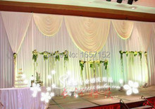 Deluxe white Stage Backdrop with Detachable Swag Top-rated 10ft*20ft Party wedding Backdrop Deluxe stage decoration