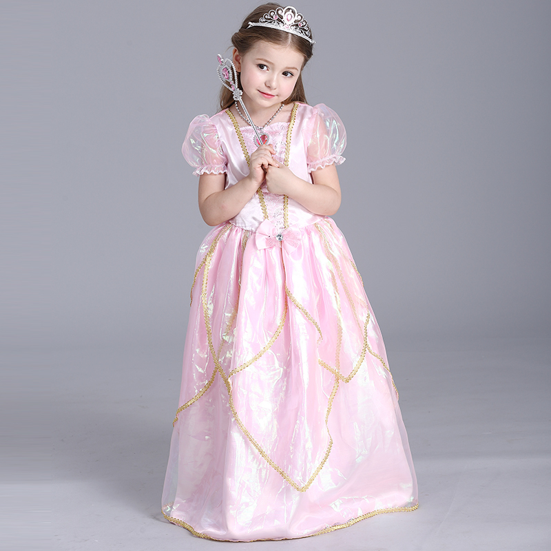 Pink Fairy Girl Dresses Halloween Costumes Princess Dress ...