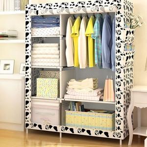 Image 2 - Простой модный гардероб Actionclub DIY, нетканый складной портативный шкаф для хранения, многофункциональный пыленепроницаемый влагостойкий шкаф