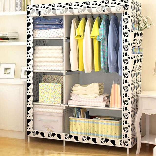 Actionclub Simple Fashion Wardrobe DIY Non-woven Fold Portable Storage Cabinet Multifunction Dustproof Moistureproof Closet 1