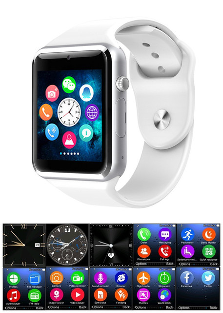 61196d5170970b Latest multilingual Bluetooth Smart Watch Wristwatch compatible with  Samsung, huaiwei,IPHONE. Android ios Smartphones iPhone