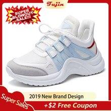 9728eaf4 Fujin Sneakers mujer 2019 transpirable malla Casual zapatos mujer moda  Zapatillas encaje alto ocio mujeres Vulcanize