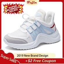 Fujin Sneakers Women 2019 Breathable Mesh Casual Shoes Femal
