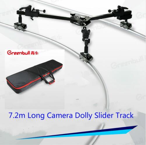 Greenbull Professional Video Camera Tripod Slider Dolly Track Maxload 30KG Portable DSLR Slider Track for HDV