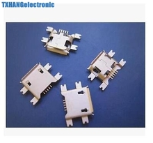 10Pcs 5pin B Type Female For Mobile Phone Micro USB Jack Connector type b female 5 pin PCB Solder Connectors