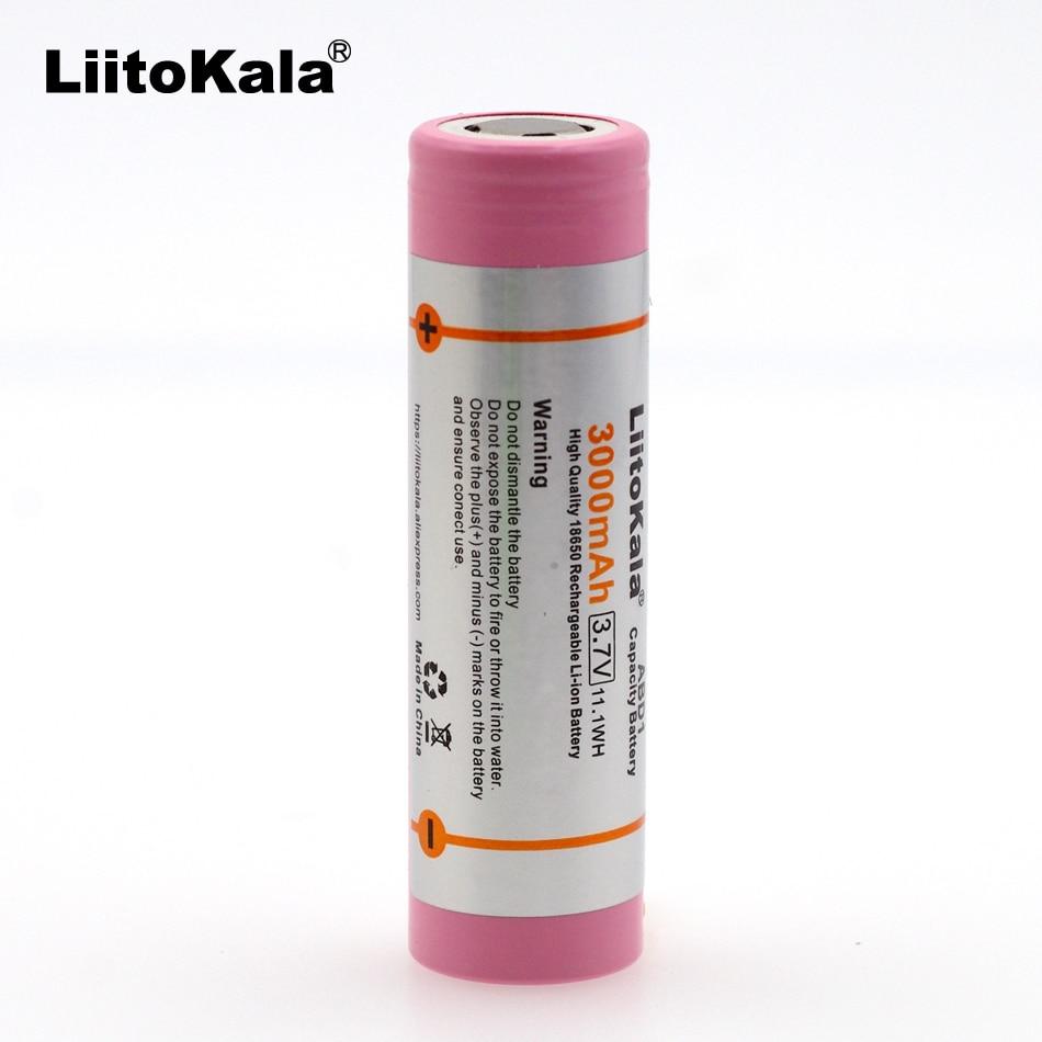 Liitokala 100% brand new original abd11865 3.7V d1 3000 mAh 18650 rechargeable l