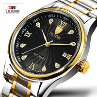 Men Watches Luxury Brand TEVISE Waterproof Watch Automatic Mechanical Male Wrist Watches Stainless Steel Men Calendar