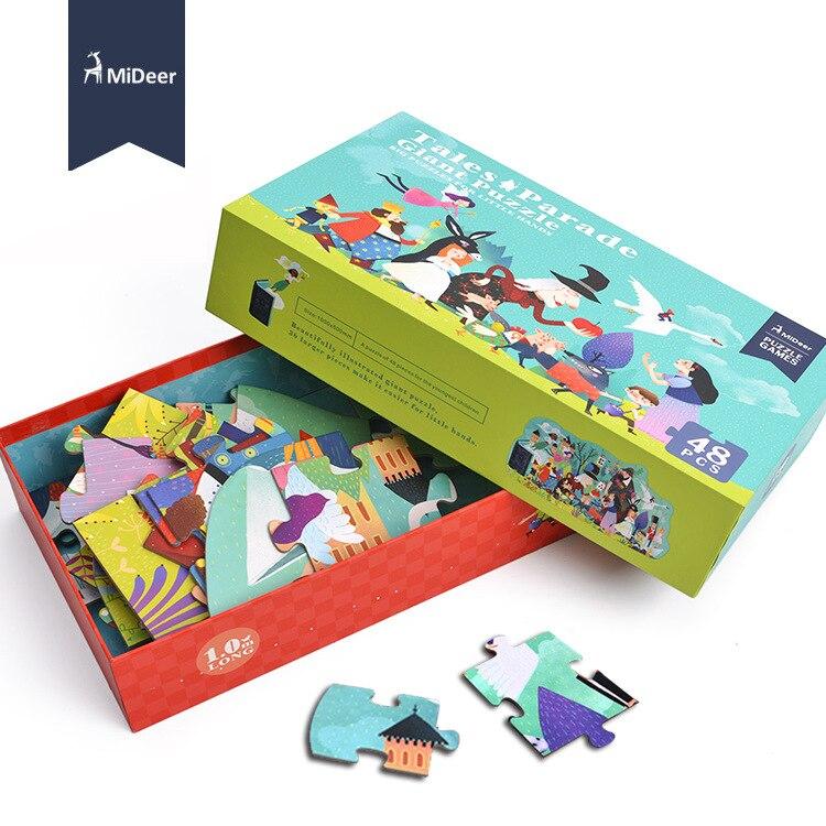 Mideer 100x49.5cm 48pcs big Paper puzzles for kids Tales Parade Giant Puzzle Toys coat figl пальто в стиле куртки