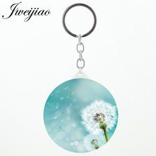 JWEIJIAO 1 pic sell loating Dandelion Purse Mirror keychains made in China Tools Accessories Makeup mirrors for girls gift DA01(China)