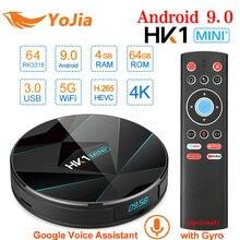 Rockchip RK3318 HK1 MINI Plus Smart TV Box Android 9.0 4GB R