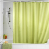 Newest 180x180cm Solid Color Waterproof Shower Curtain Mold Resistant Bath Curtain With 12 Hooks