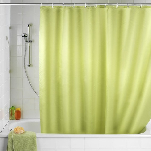 Newest 180x180cm Solid Color Waterproof Shower Curtain Mold Resistant Bath With 12 Hooks
