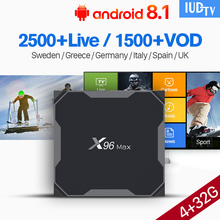 X96Max Android 8.1 IPTV Spain Box with IUDTV IPTV Subscription USB3.0 5.8G Wifi Sweden Arabic Spain Portugal UK Italia IP TV