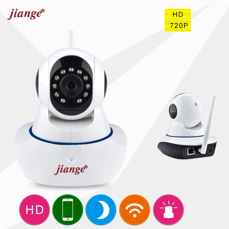 jiange WIFI IP Camera Wide Angle Mini Indoor Camera With IR Night Vision 2 Way Audio Motion Detection Surveillance Camera howell wireless security hd 960p wifi ip camera p2p pan tilt motion detection video baby monitor 2 way audio and ir night vision