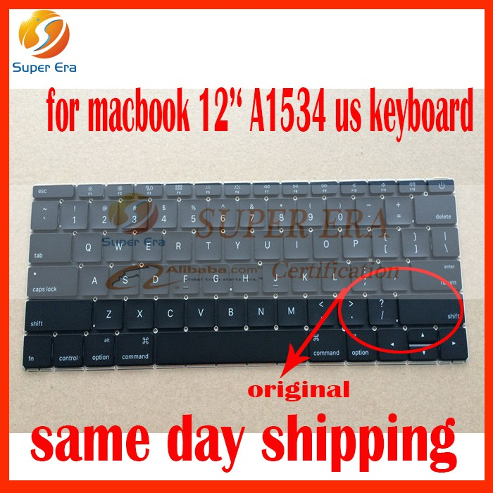 A1534 us keyboard for macbook retina 12inch A1534 clavier usa keyboard layout without backlight early 2015year 2016year early 2016year new original a1534 for macbook 12 a1534 sp spain spanish keyboard without backlight backlit emc 2991
