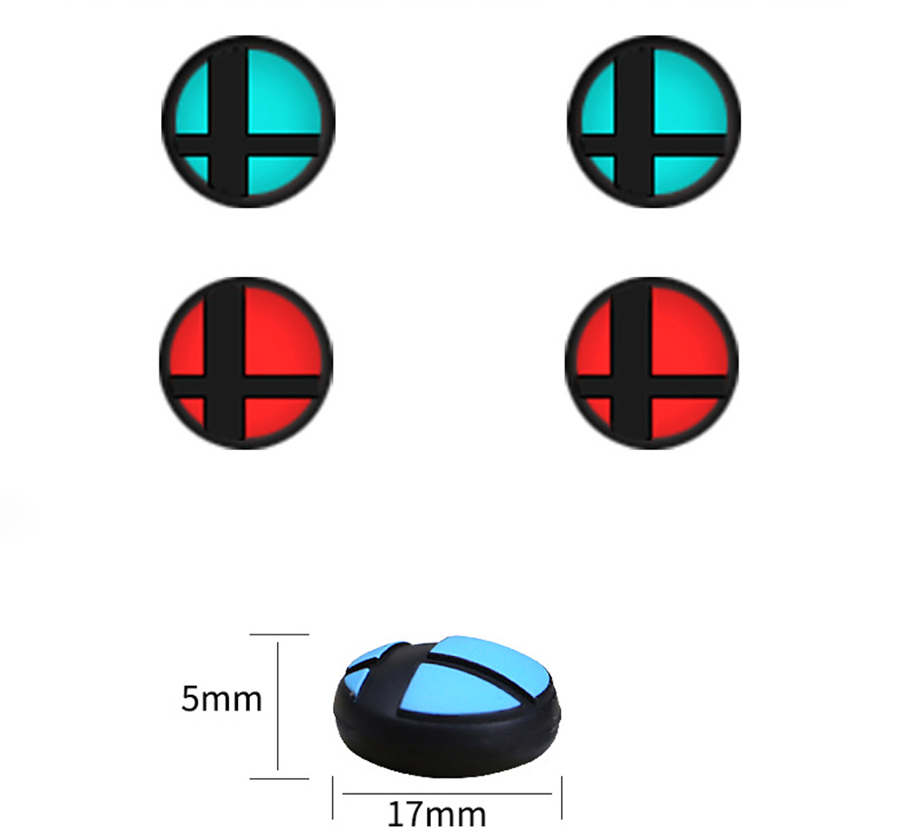 4pcs Anti-skid Analog Grips Cap For Nintend Switch NS Game Console Silicone Protection Joystick Cap Cover