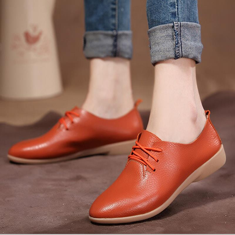 ᐅflat Dance Shoes Women S Cowhide Casual Shoes Genuine Leather
