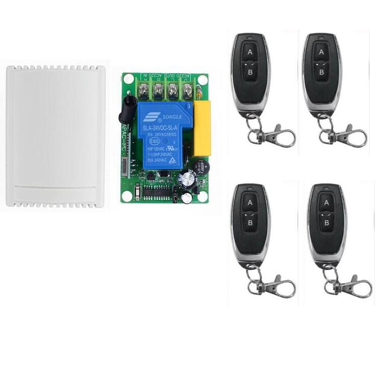 433MHZ 315MHZ AC 220V 30A 1Channel Wireless Remote Control Switch Control Garage/Roller/Sliding Gate Door /Motor