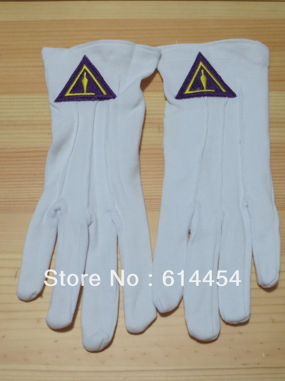 Freimaurer Handschuhe Mason Freiheit Kundenspezifische Maß Stickerei N5