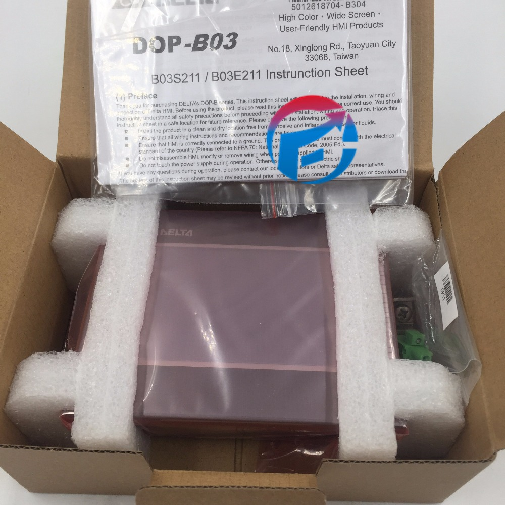 DOP-B03E211 4.3'' 480*272 TFT Ethernet USB Host 1COM DELTA HMI Human Machine Interface New with In Box pws6700t n hitech hmi touch screen human machine interface new in box