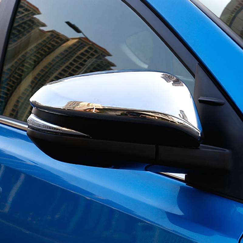 For Toyota RAV4 RAV 4 2013 2014 2015 2016 2017 ABS Chrome Door Rearview Rear View Mirror Cap Case Cover Trim 2Pcs/set