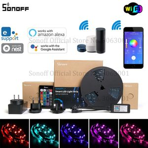 Image 1 - SONOFF L1 Smart LED Light Strip Dimmable Waterproof WiFi Flexible RGB Strip Lights Work with Alexa Google Home, Dance with Music