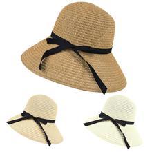 8290bfd4f098a 3 colores paja playa sombrero mujeres ala ancha Sol caliente del verano  sombrero de paja Floppy