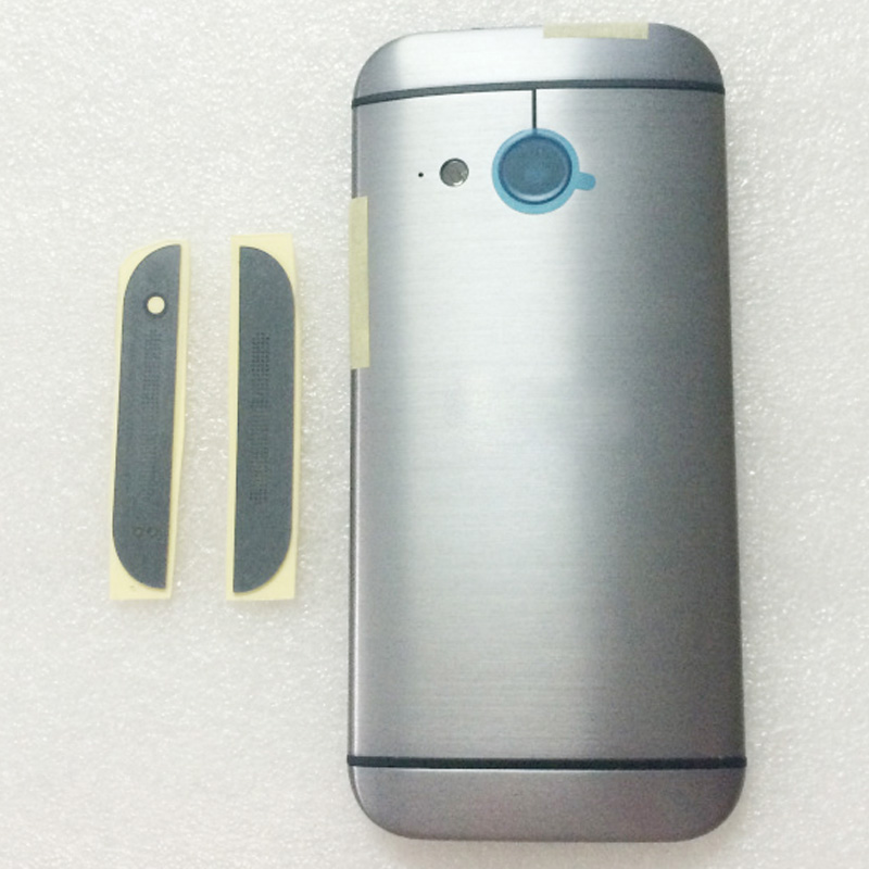 bilder für 100% neue Batterie Tür Back Cover Top Blatt Boden Blatt Gehäuse fall Für HTC One Mini 2 M8 Mini Mit Power Volumen tasten