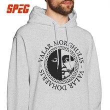 Man Valar Morghulis Valar Dohaeris Hoodies Game Of Thrones Gray 100% Cotton Hooded Sweatshirt Funny Hoodie Shirt цена и фото