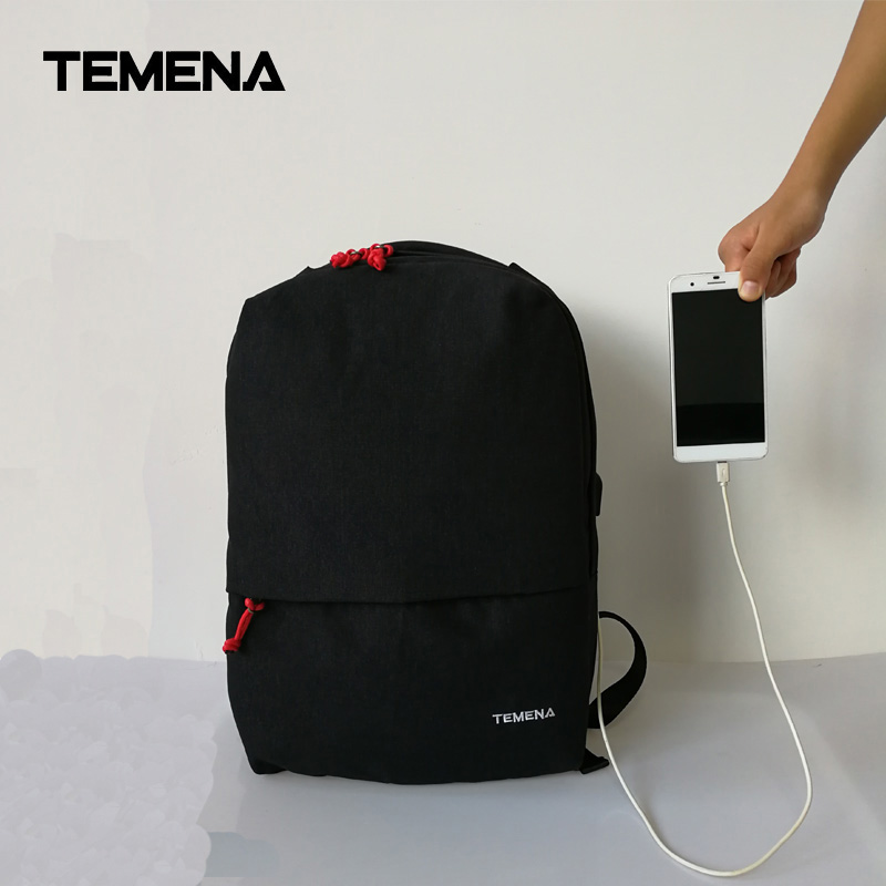 2017 New Arrival Temena 15inch External USB charge Laptop Backpack Male Women Anti-theft Backpack School Bag Mochila BBP332